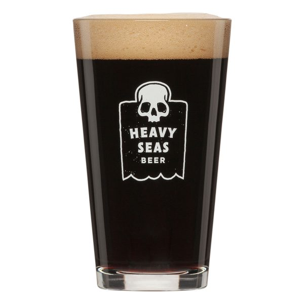 Heavy Seas Skull Pint Glass